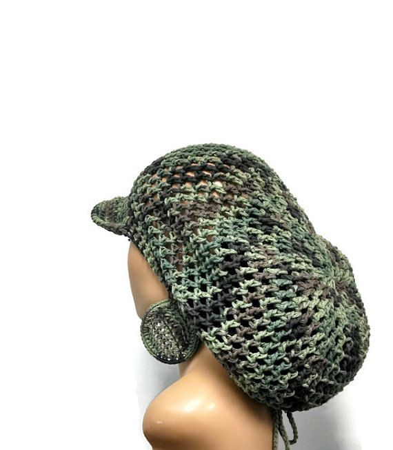 PATTERN ONLY Brimmed crochet Slouch hat Dreadlock by ScarFanatic ...