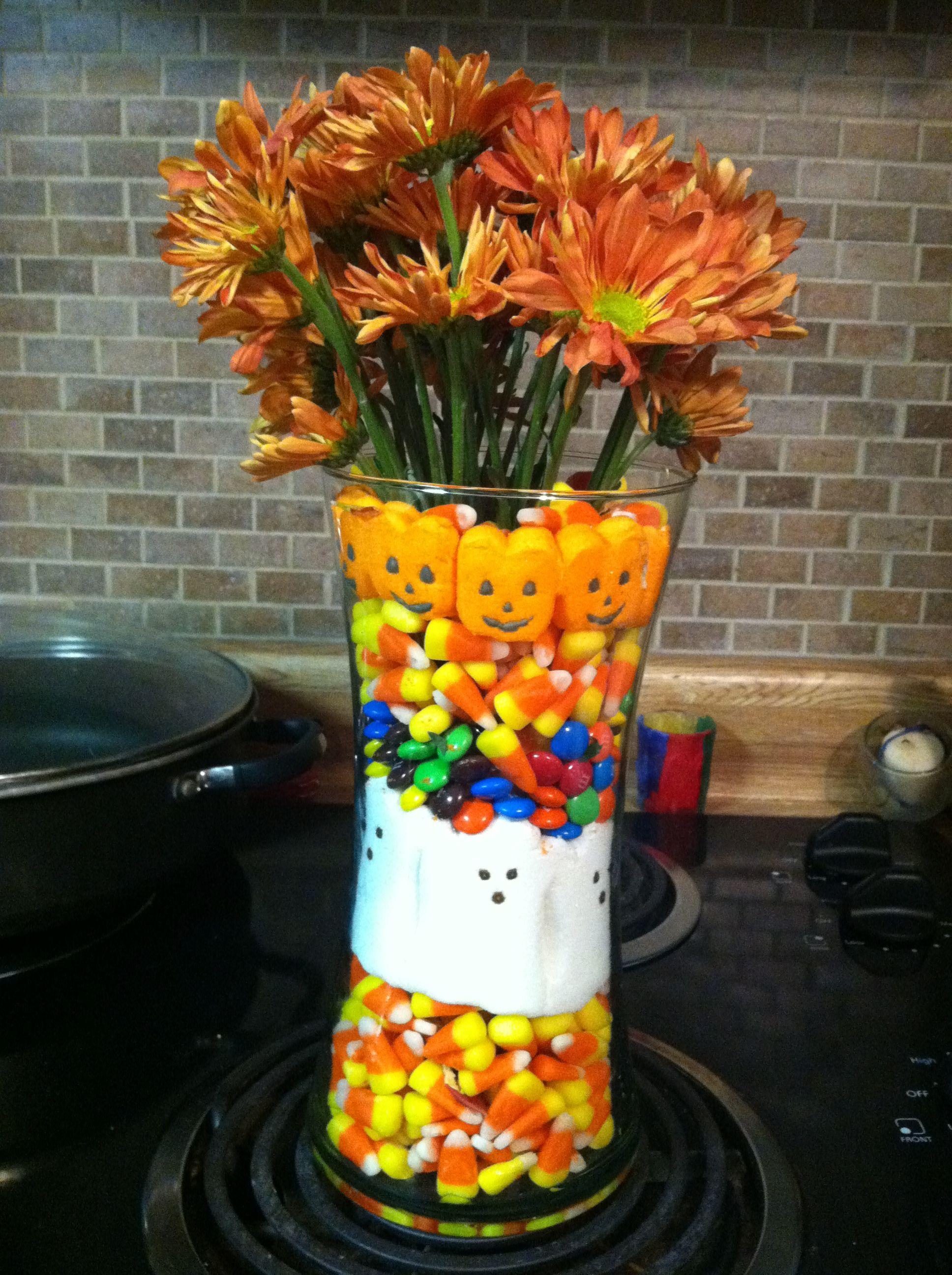 Halloween Peeps Vase And Flowers