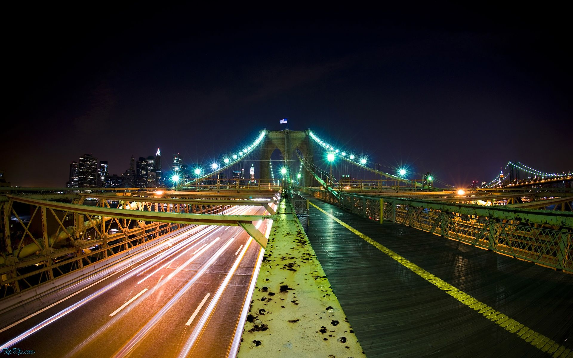 road to america HD Wallpaper Bridge wallpaper, City