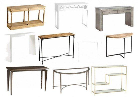 Small Sofa Table Style - 55DowningStreet Blog - Designer Decor - Furnishings