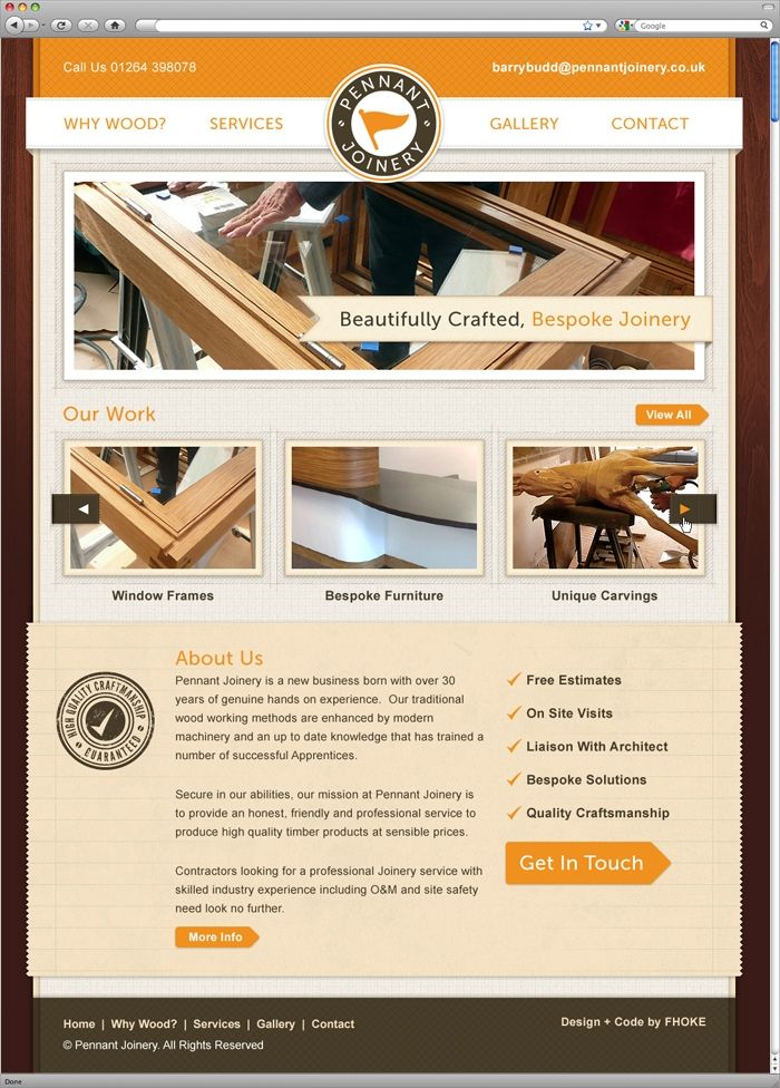 Pennant Joinery Small Tailor Made Site For Local Joiner And Wood Worker Carpentry And Joinery Joinery Wood Worker