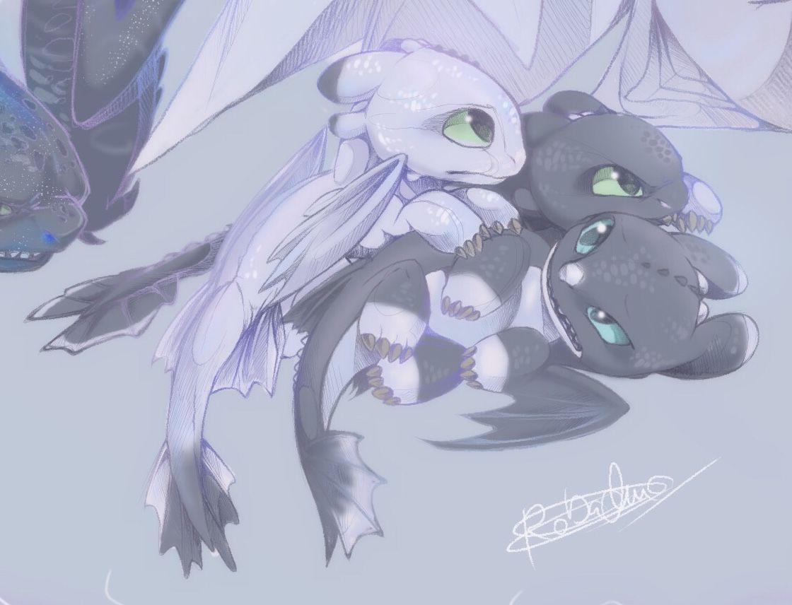 Light Fury Toothless Baby Nightlight by Kobachua on Instagram | LC