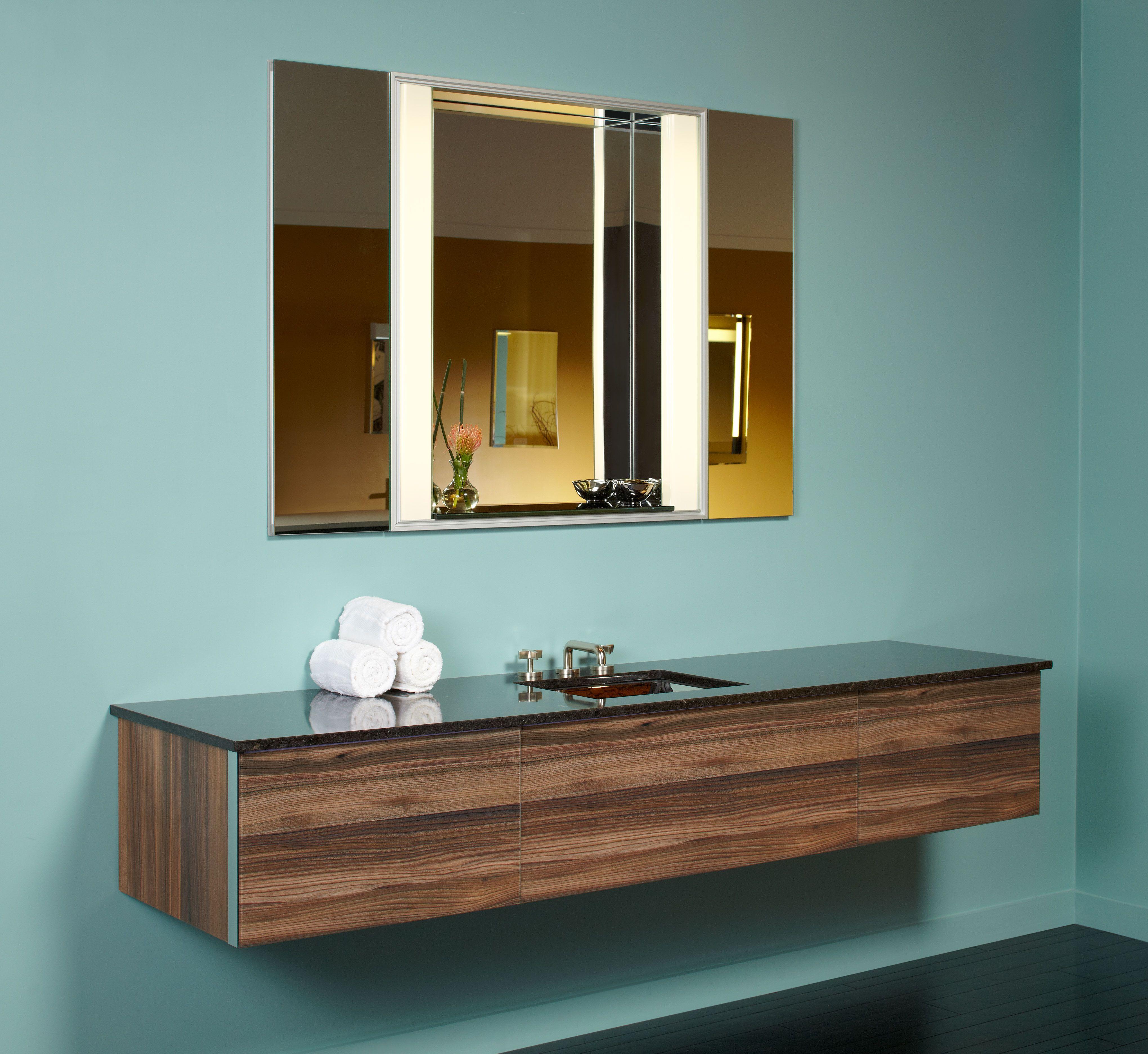 Robern bathroom vanities - Robern V14 24 And 36 Wall Mount Vanities In Smooth Leaved Elm