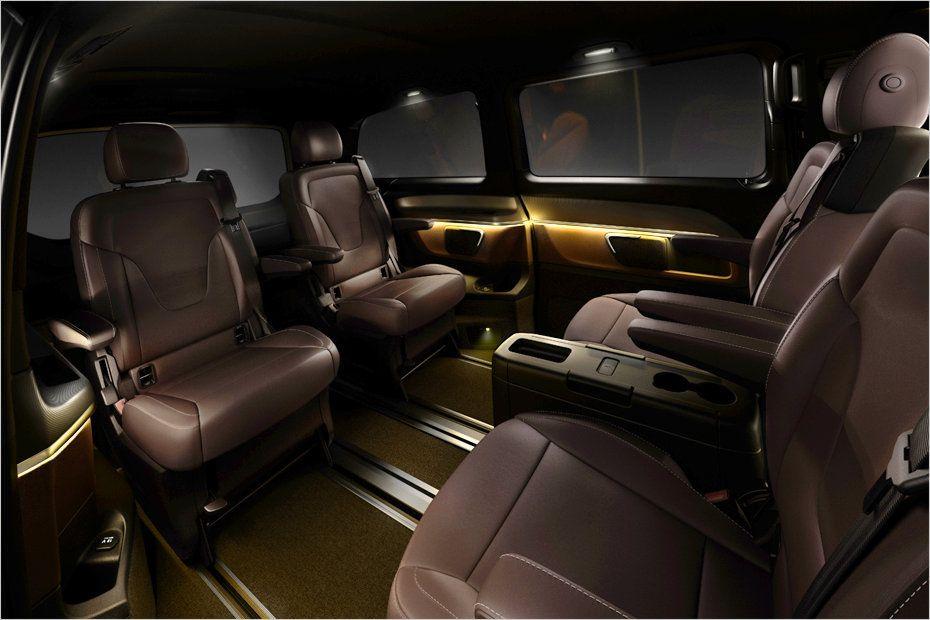 mercedes benz new v class w447 interior revealed mbhess. Black Bedroom Furniture Sets. Home Design Ideas