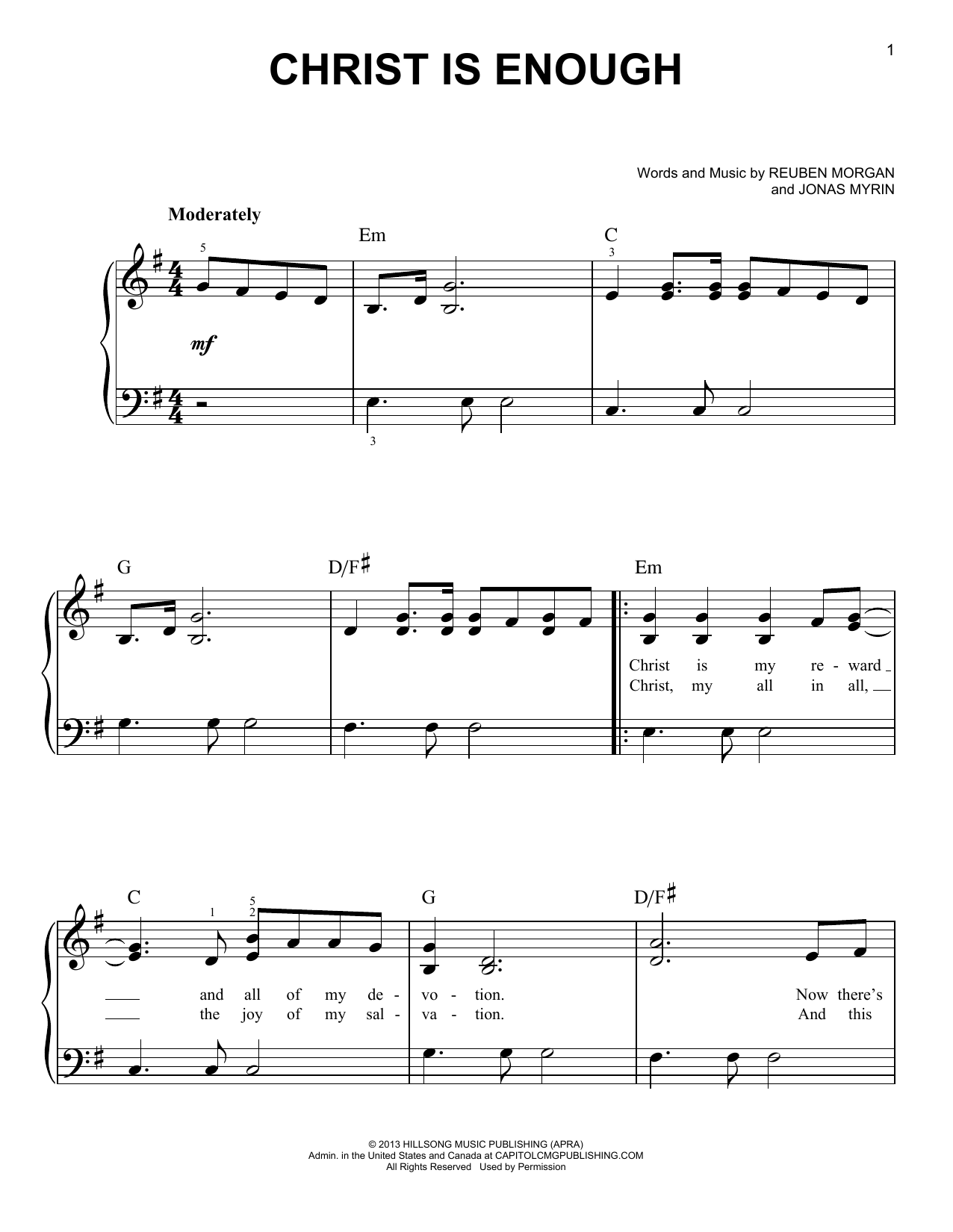 Hillsong LIVE Christ Is Enough 164523 Sheet music, Sheet