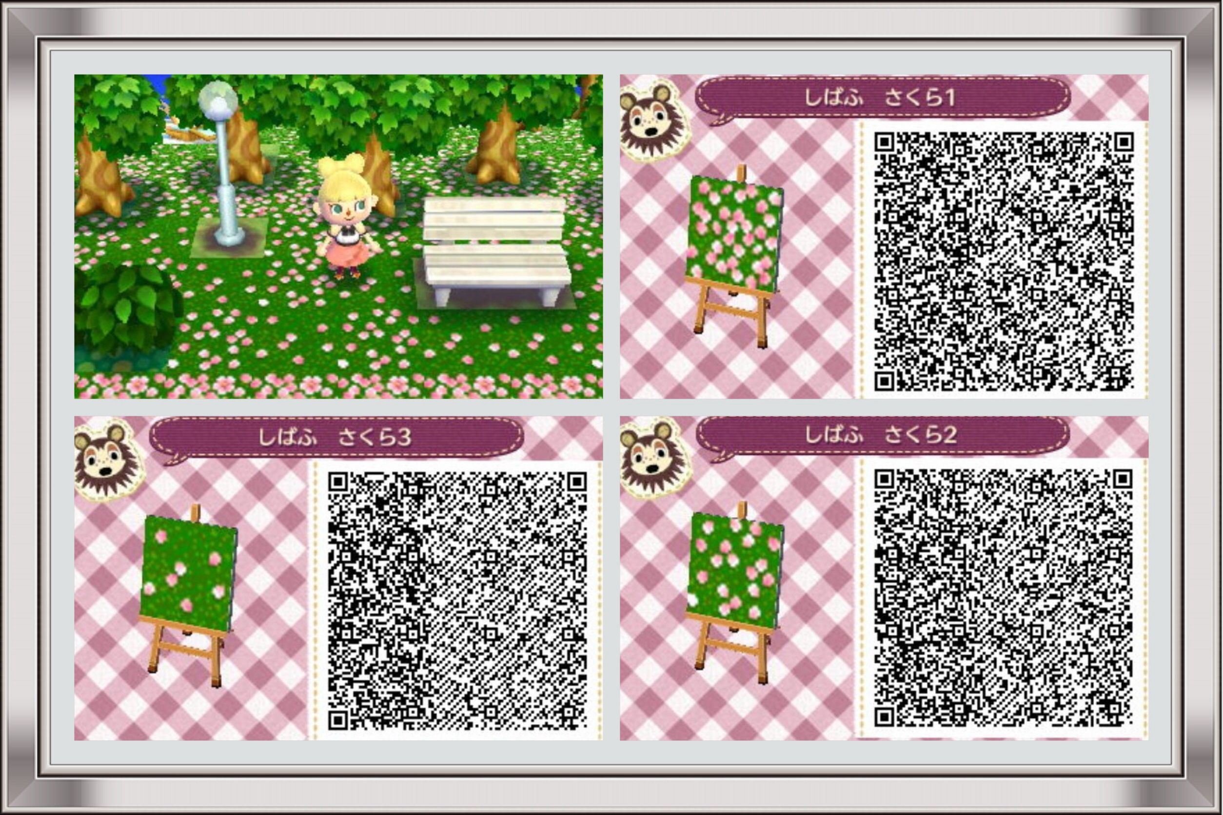 Flower petals animal crossing qr codes pinterest for Carrelage kitsch acnl