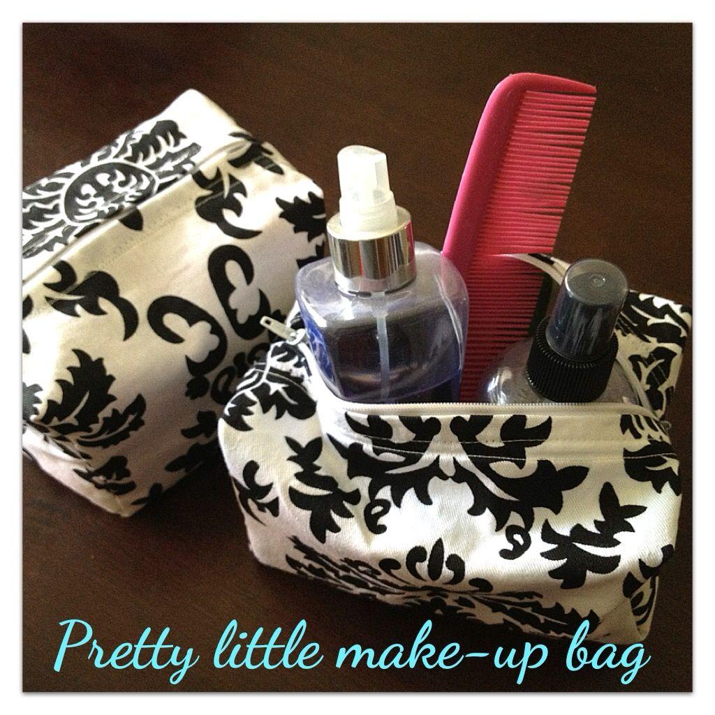 Easy cosmetic bag sewing tutorial :)