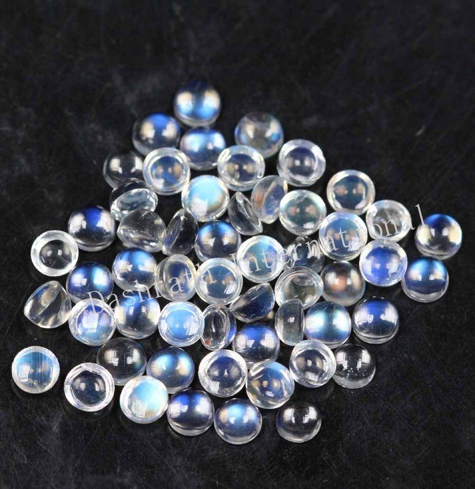 25 pieces lot natural blue flashy labradorite moonstone round shape gemstone cabochon flatback