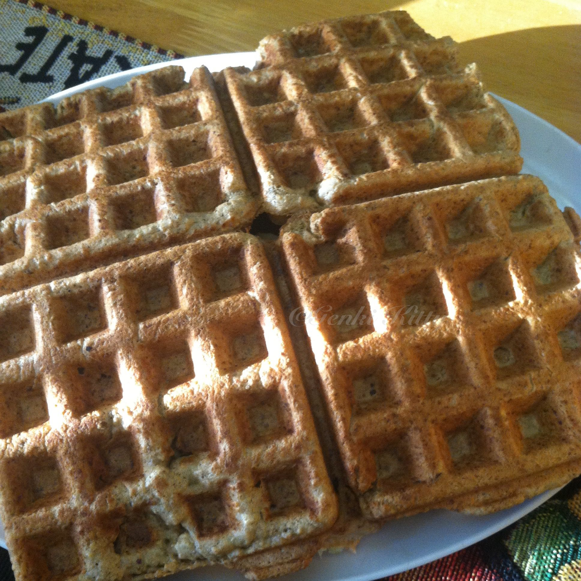 Vegan Maple Whole Wheat Waffles just now