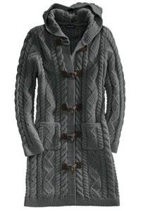 Women's Wool Long Toggle Sweater Coat from Lands' End review | buy ...