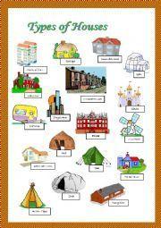 English teaching worksheets: Types of houses   hari   Pinterest ...