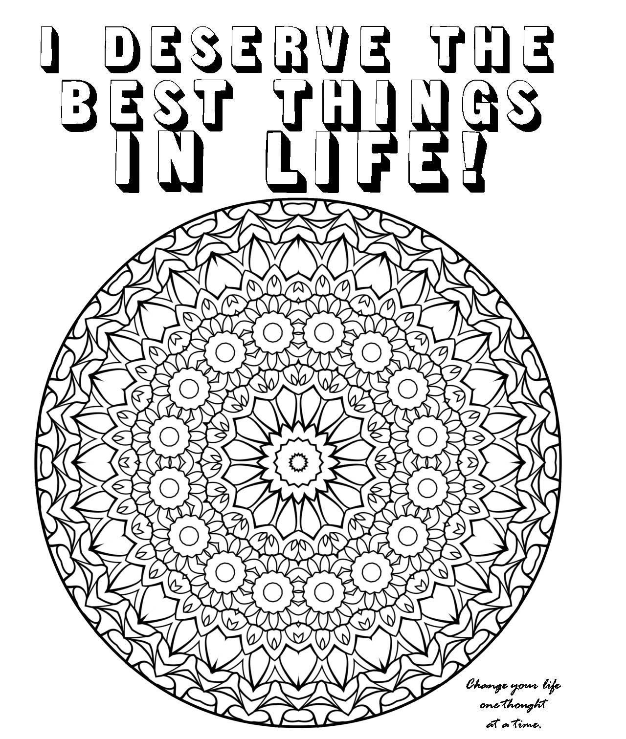 Law Of Attraction Adult Coloring Pages Adult Coloring
