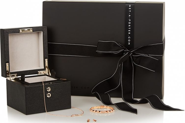 """Haute Living's  Luxury Valentine's Gift Guide for Her - Net a Porter's """"box of jewels"""" exclusive boxed set for Valentine's day, featuring Anita Ko's 18k jewelry $9995 at www.netaporter.com"""