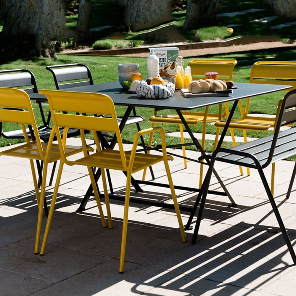 Fermob Cargo 128 X 128 Square Table Lime Cargo Fermob Lime Square Table Fermob Outdoor Ikea Patio