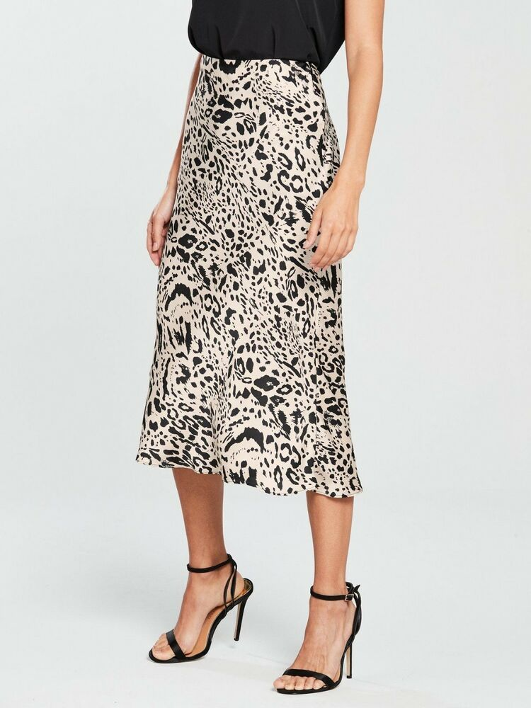 cf444e2922 River island Satin Slip Skirt Bias Cut Leopard Black White Sz 12 Topshop  #fashion #clothing #shoes #accessories #womensclothing #skirts (ebay link)