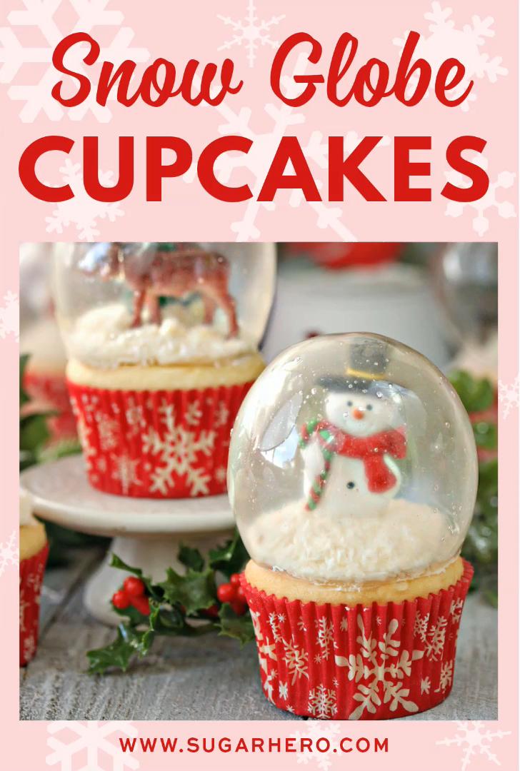 Snow Globe Cupcakes #holidaydesserts