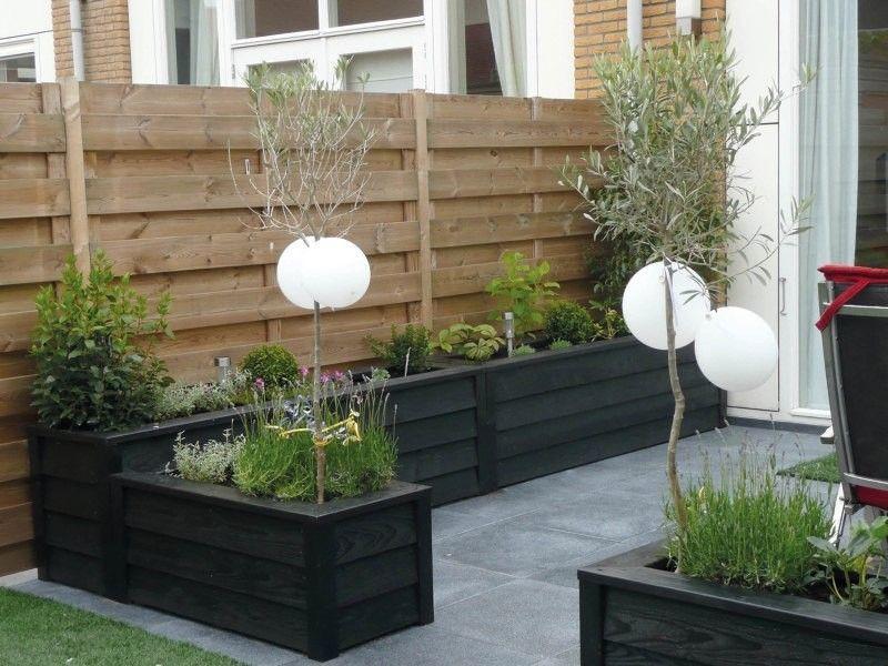 Colour of planter boxes patios pinterest jard n for Decoracion jardin seco