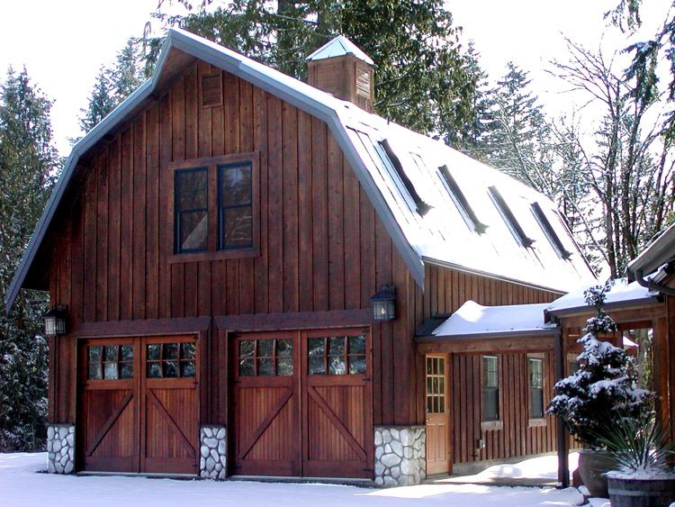 Gorgeous gambrel barn garage architecture and design for Gorgeous garage