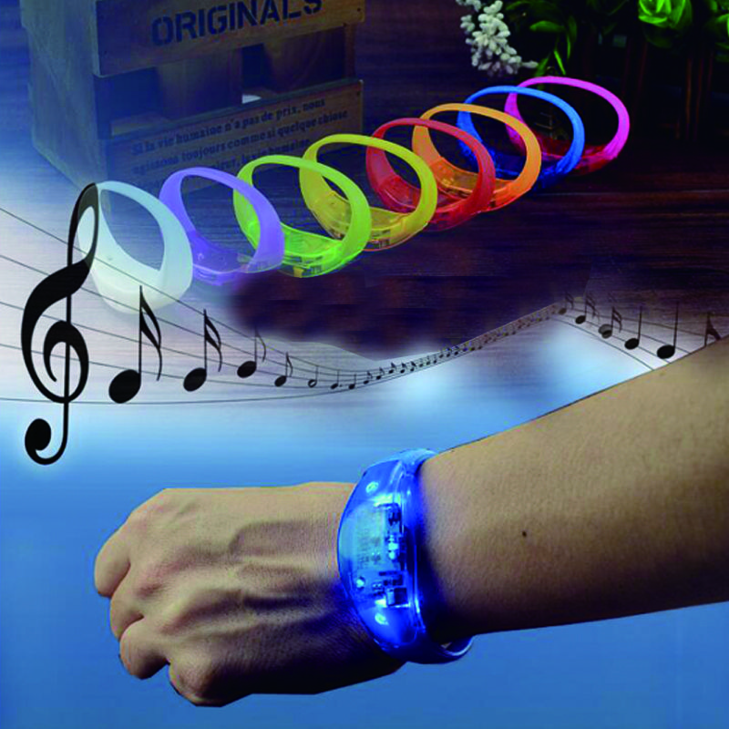 Voice Activated Sound Control Led Flashing Silicone Bracelet