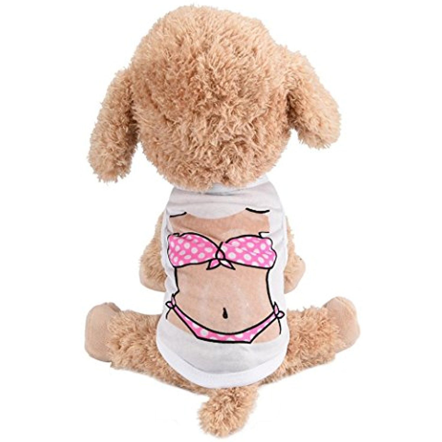 cb5eb489dfa3 YJYdada Pet Puppy Small Dog Cat Pet Clothes Bikini/Muscle Printing Apparel  Vest Clothes -- Click on the image for additional details.