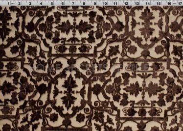 Classic Velvet Burnout Designer Silk Fabric 5593 Printed Silk Fabric