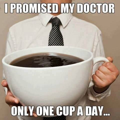 One cup a day..