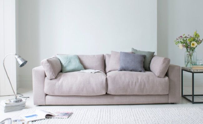 Loaf Atticus Pale Pink Fabric Sofas