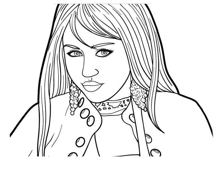 How To Draw Hannah Montana Coloring Page Netart In 2020 People Coloring Pages Coloring Pages Drawings