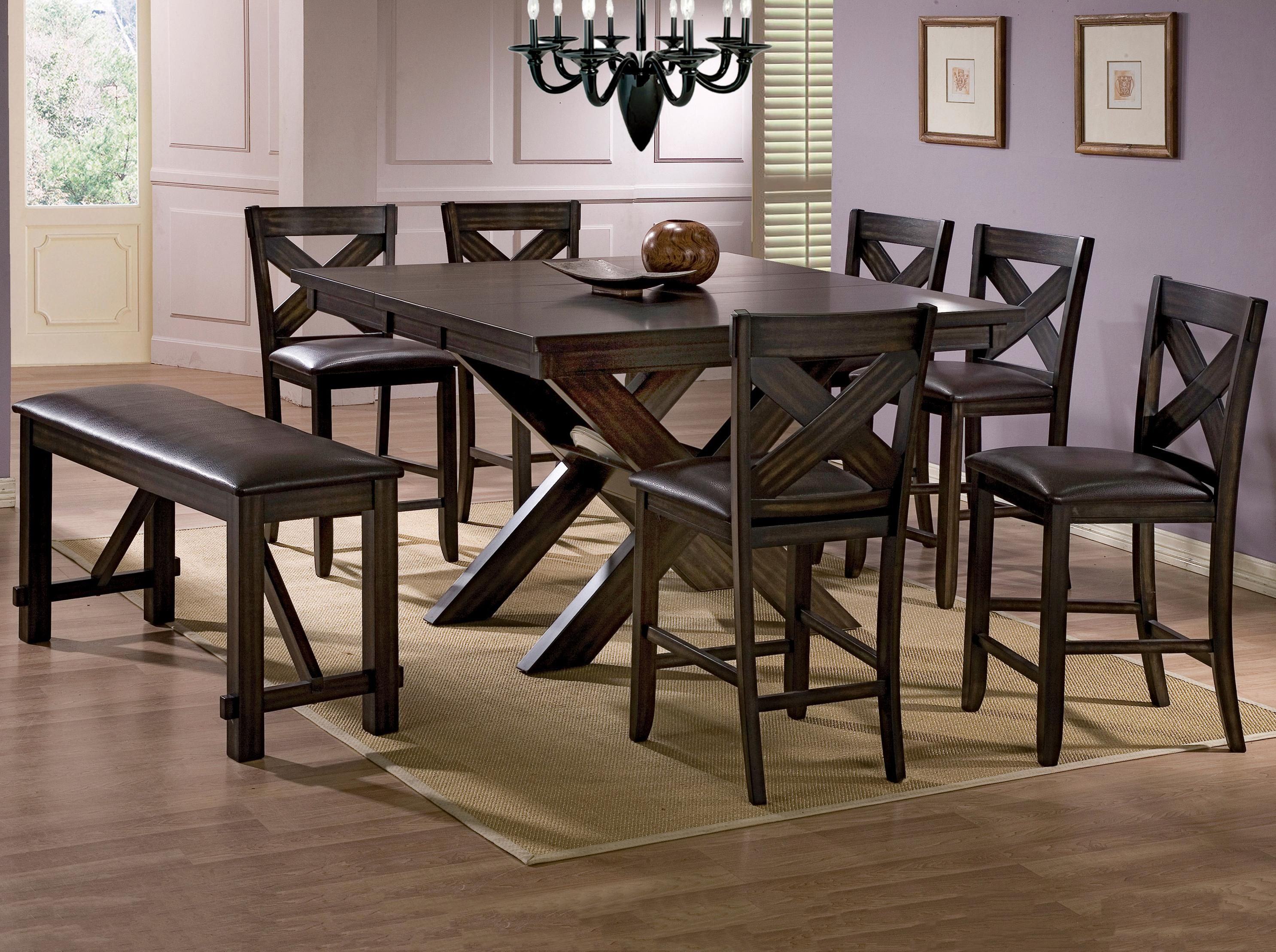 Havana 8 Piece Pub Table Set By Crown Mark Home Sweet