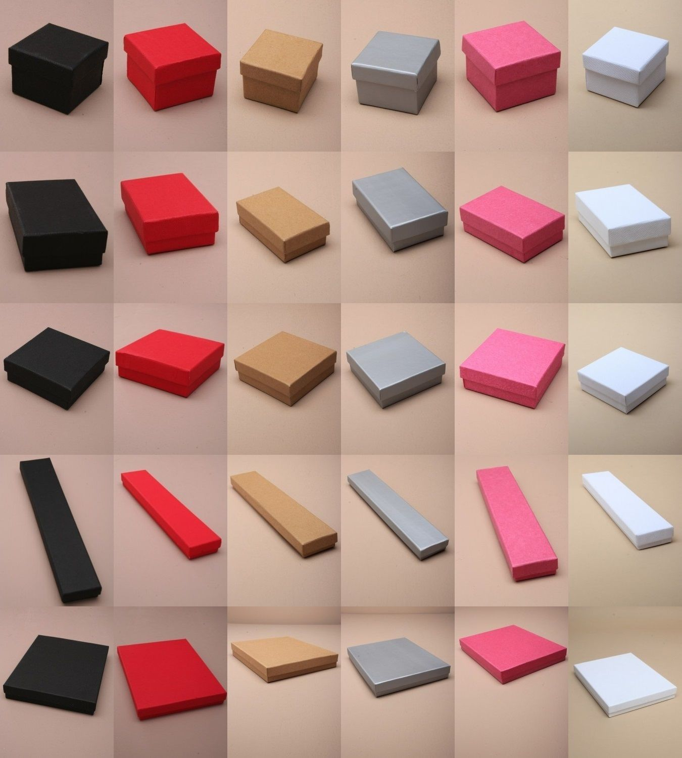 9 61 Card Jewellery Gift Boxes Flocked Pad Insert Wholesale