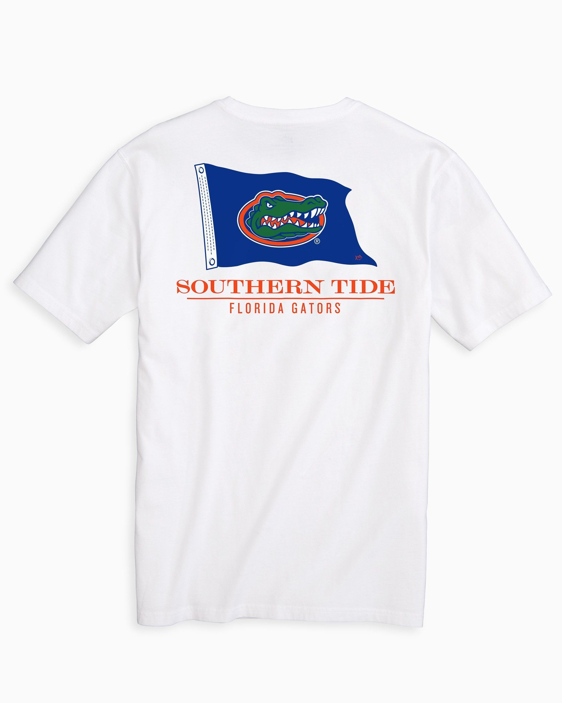 Men S Florida Gators Flag Short Sleeve T Shirt Classic White M By Southern Tide Volleyball Shirts Southern Tide Gator