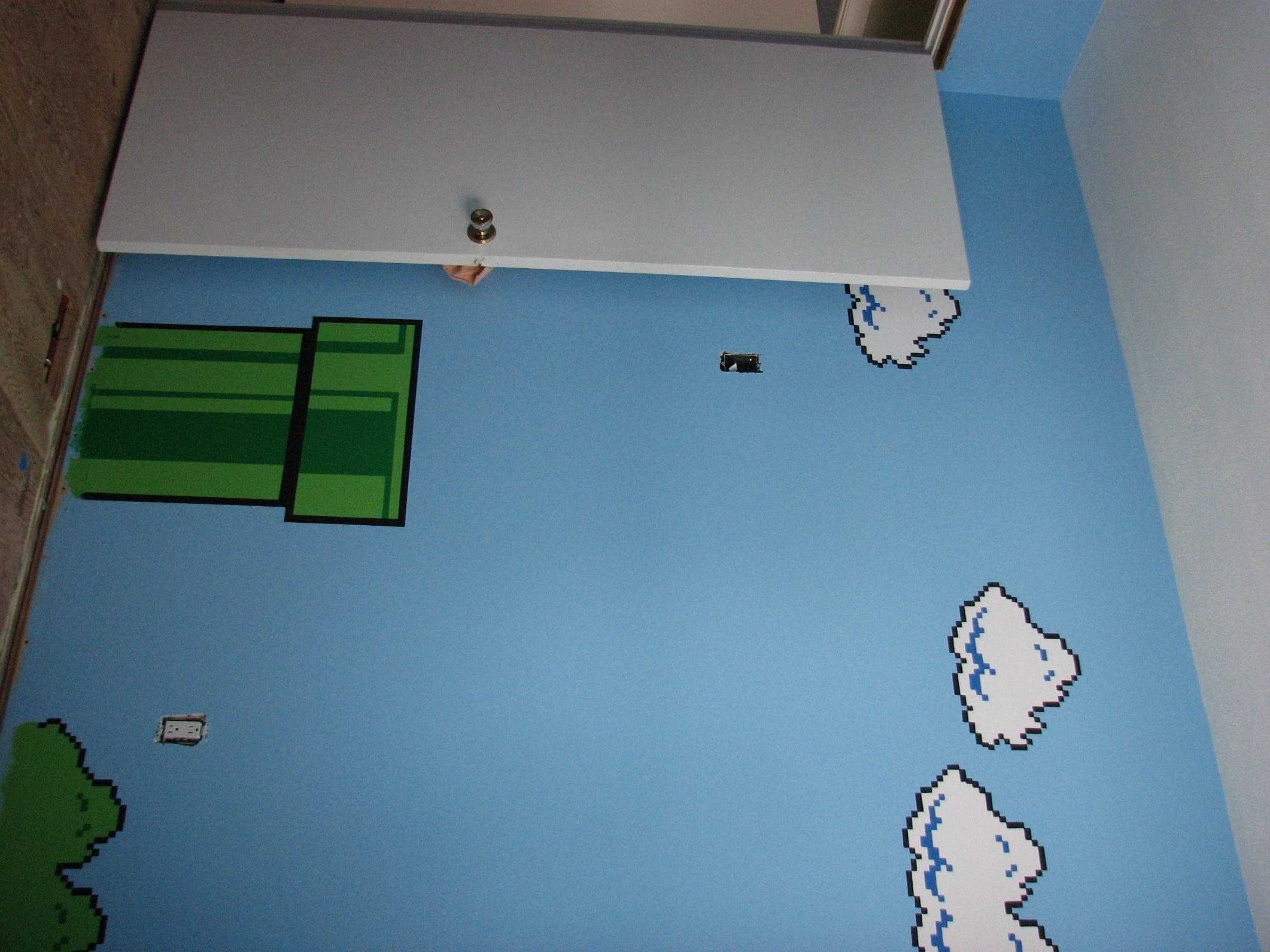 Pingl sur mario bros chambre gars bedroom boy - Deco chambre mario ...