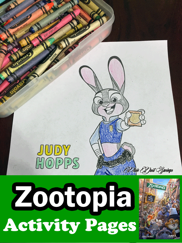 ZooTopia Printable Coloring Sheets Disney Pages Activities