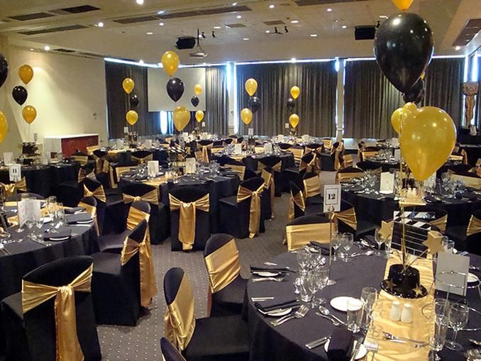 Possible Theme With The Black And Gold 80th Birthday Party