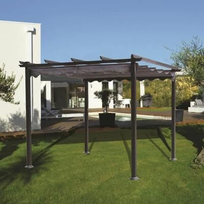 malaga pergola 3x3 en aluminium achat vente tonnelle. Black Bedroom Furniture Sets. Home Design Ideas