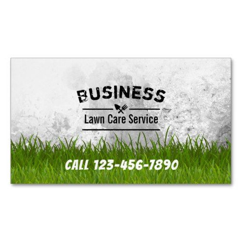 Professional Lawn Care  Landscaping Service Business Card Magnet - lawn care business cards