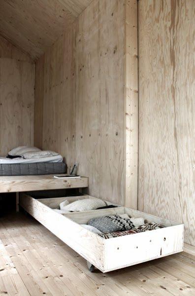 tiny house inspiration - under bed storage DIY decor╳architecture
