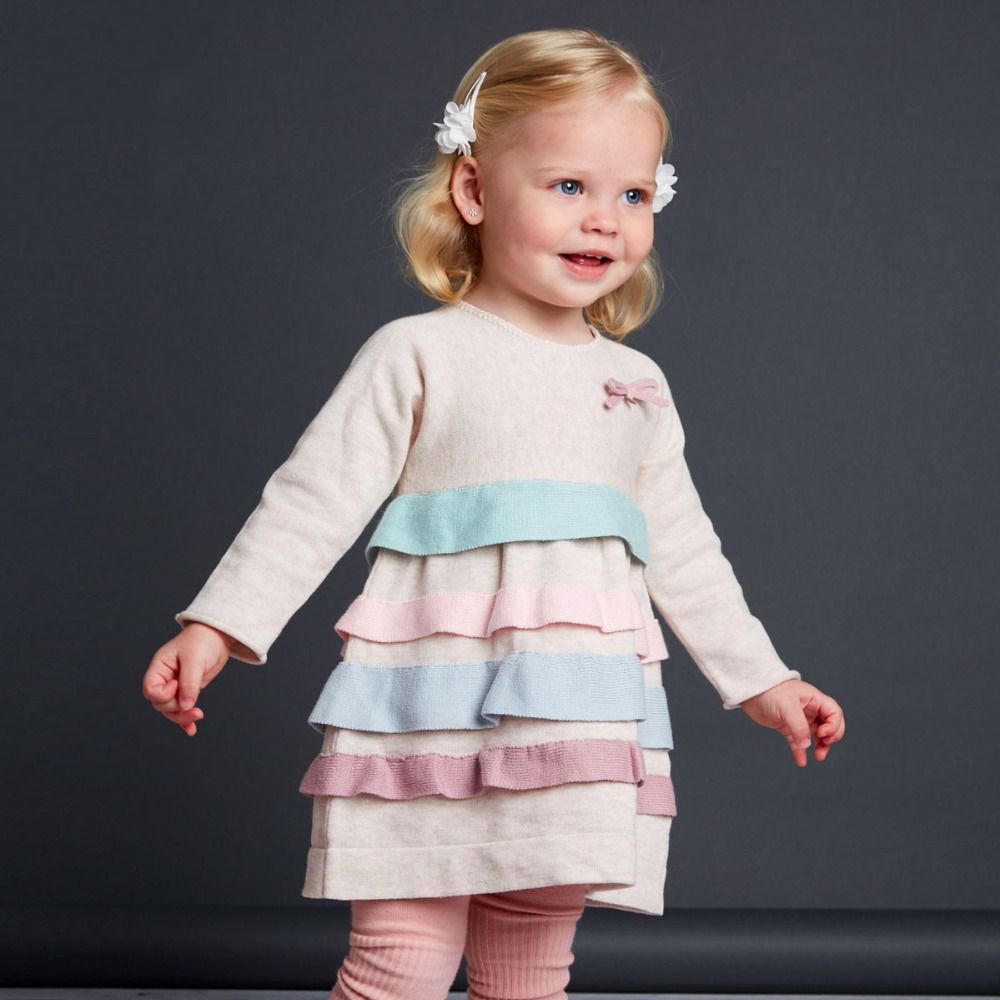 Aliexpress.com : Buy Brand2016Spring Autumn Cotton child clothes kid infant toddler baby girl princess party dress long sleeve jersey knitting dress from Reliable princess party dress suppliers on QieKeKids Store