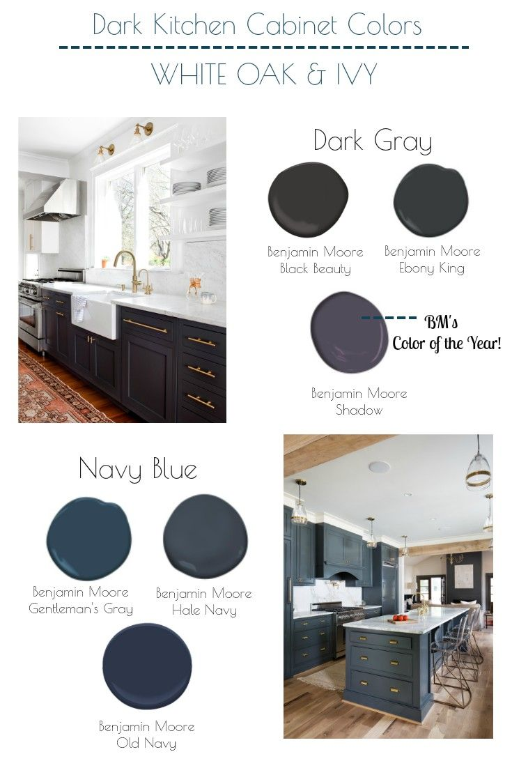 The Best Navy Blue And Dark Gray Benjamin Moore Colors For Kitchen Cabinets Grey Blue Kitchen Grey Kitchen Cabinets Dark Grey Kitchen Cabinets