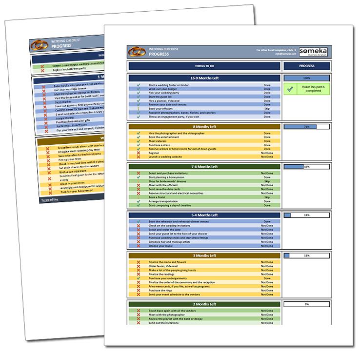 Wedding Checklist Wedding checklist, Excel templates