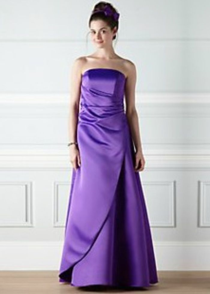 Purple Bridesmaid Dresses | Evie purple satin bridesmaid dress by ...