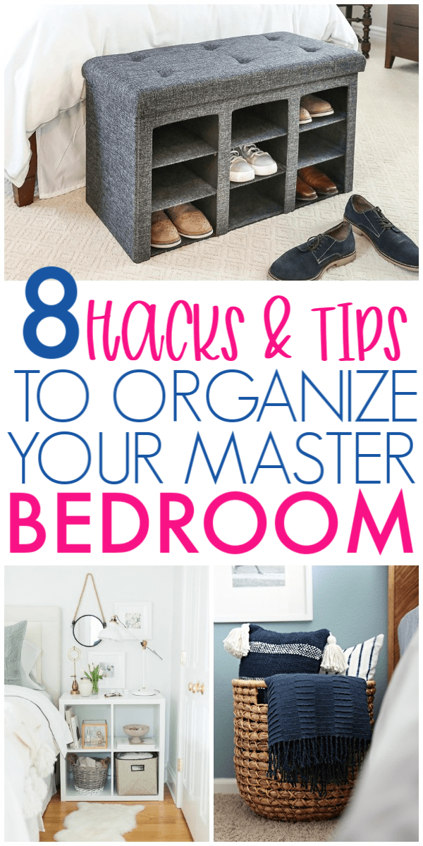 8 Ways To Simplify & Organize Your Master Bedroom images