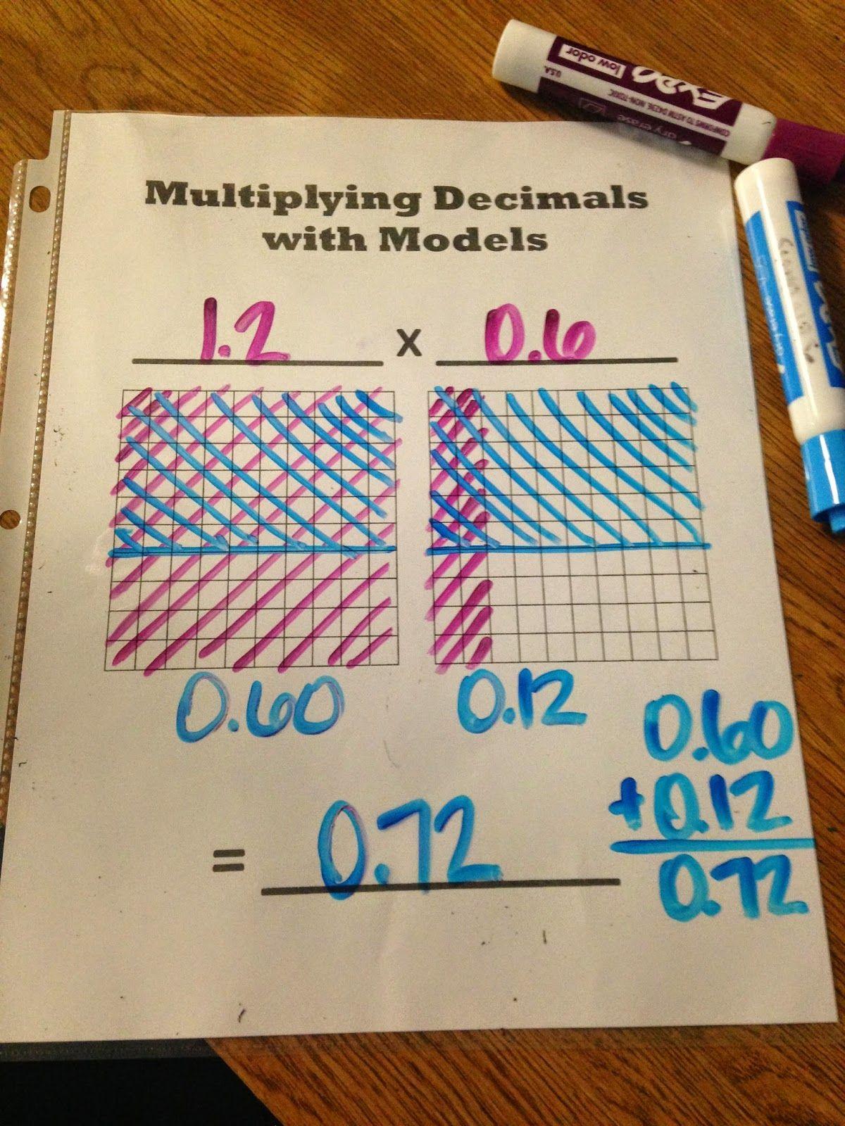 Worksheet Teaching Multiplication Of Decimals multiplying decimals using area model youtube teaching math with models