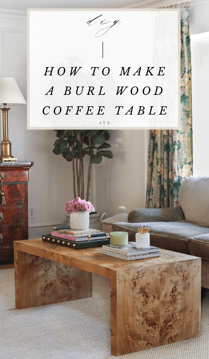 Diy How To Make Your Own Custom Burl Coffee Table Burled Wood Coffee Table Painted Coffee Tables Burled Wood Table [ 1200 x 700 Pixel ]