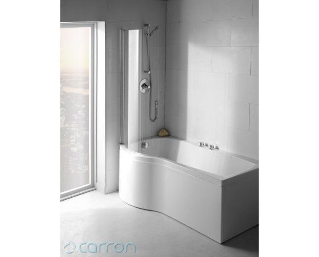 Carronite Shower Bath carron shower bath- perfect for small bathrooms and allows you the