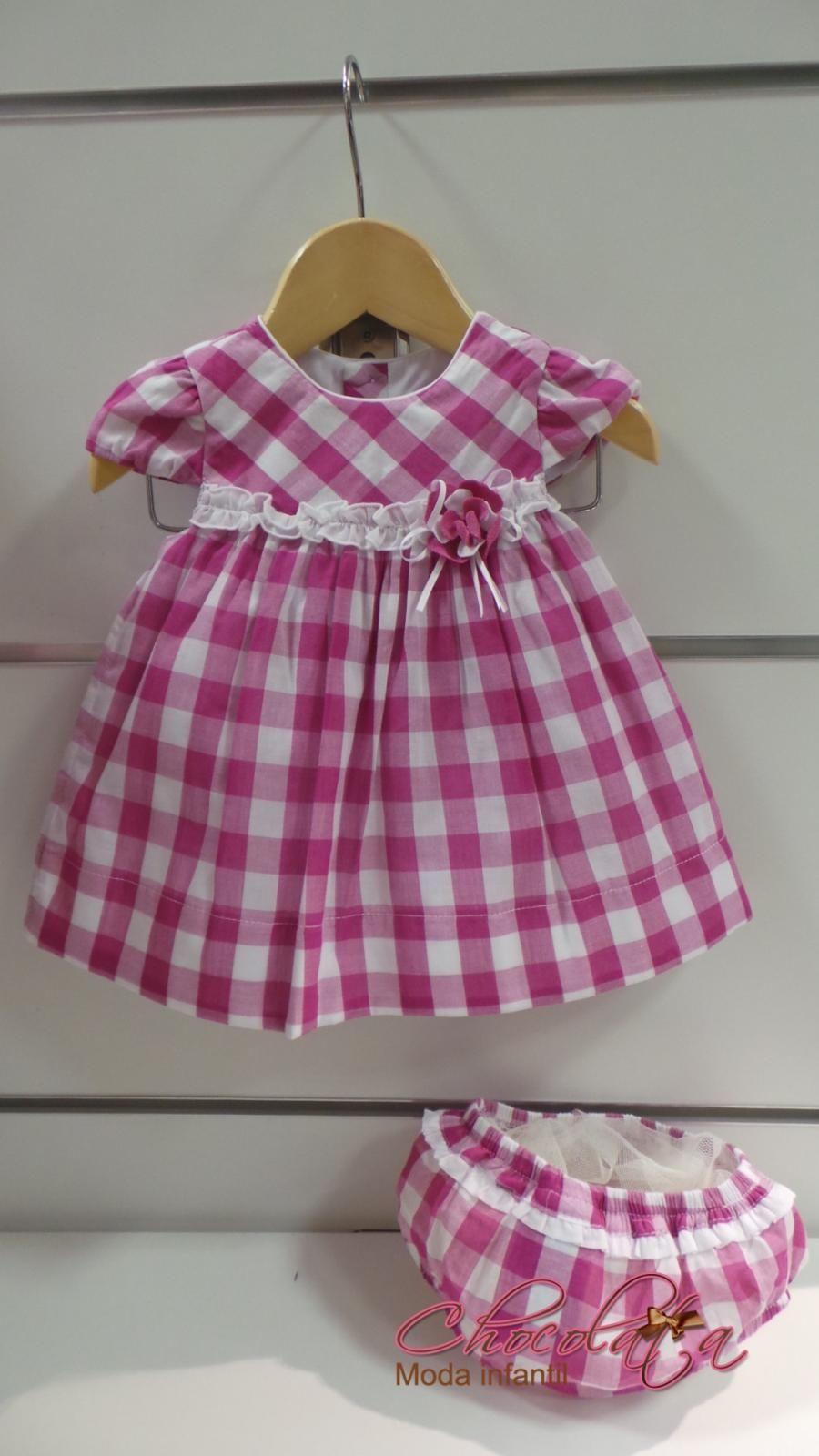 VESTIDO VICHY | baby dress | Pinterest | Vestiditos, Vestidos niña y ...