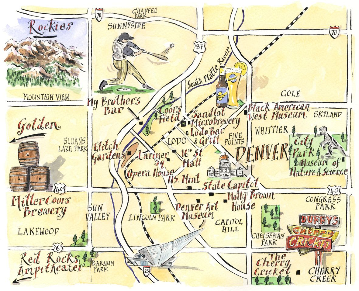 Pin by Maggie Zerfoss on Denver, CO | Map, Denver map, Tourist map Denver Hotels Map on