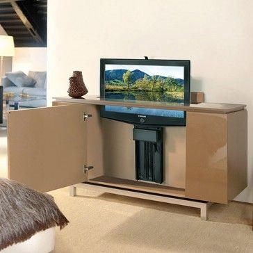Retractable Tv Stand Ceiling Woonwagen Verbouwing Tv Kast Ikea