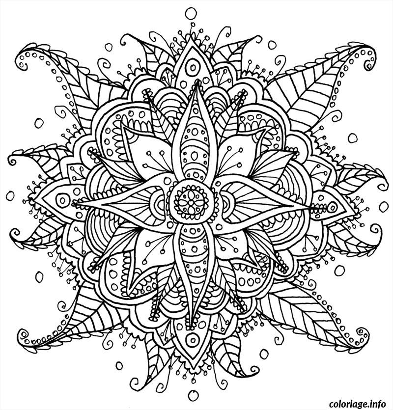 Coloriage difficile mandala adulte Dessin à Imprimer | coloriages ...
