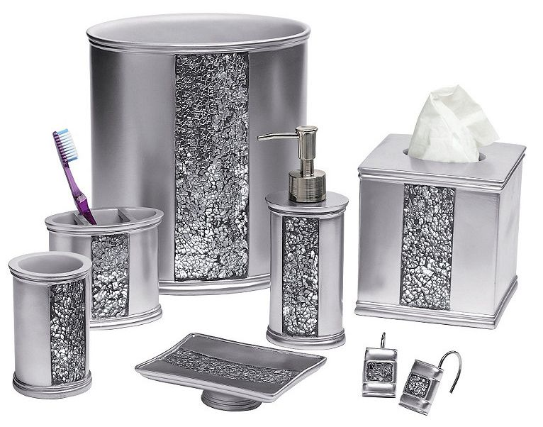 Check Out The Deal On Sinatra Silver Bling Bath Accessories At